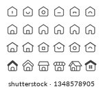 set of minimal home icon | Shutterstock .eps vector #1348578905