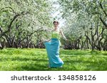 beautiful young  woman in the... | Shutterstock . vector #134858126