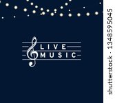 live music text with violin... | Shutterstock .eps vector #1348595045