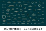 vintage decor elements and... | Shutterstock .eps vector #1348605815