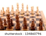 chess pieces on the board | Shutterstock . vector #134860796