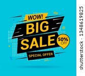 big sale and special offer.... | Shutterstock .eps vector #1348619825