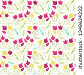 simple floral pattern with... | Shutterstock .eps vector #1348624232