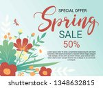 design banner with spring... | Shutterstock .eps vector #1348632815