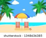summer beach background for... | Shutterstock .eps vector #1348636385