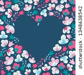 cute heart shaped frame  ...   Shutterstock .eps vector #1348638542