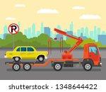 car evacuation service flat...   Shutterstock .eps vector #1348644422