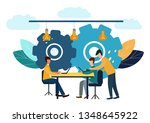 illustration  online assistant ... | Shutterstock . vector #1348645922