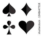 casino gambling theme. set of... | Shutterstock .eps vector #1348647518