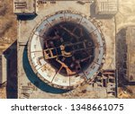 aerial top down view of... | Shutterstock . vector #1348661075