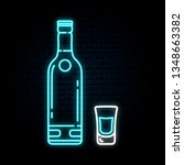 glowing neon sign with vodka... | Shutterstock .eps vector #1348663382