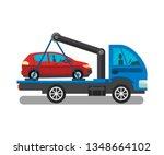 cargo transportation service...   Shutterstock .eps vector #1348664102