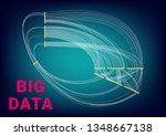 big data visualization design...   Shutterstock .eps vector #1348667138