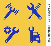 wrench icon set with wrench... | Shutterstock .eps vector #1348669628