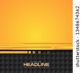 orange and black hi tech... | Shutterstock .eps vector #1348674362