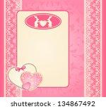 beautiful easter card. vector... | Shutterstock .eps vector #134867492