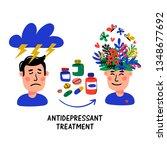 psychology. antidepressant... | Shutterstock .eps vector #1348677692