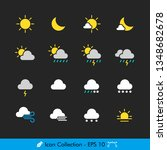 weather sign related icons  ... | Shutterstock .eps vector #1348682678