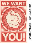 we want you vector poster | Shutterstock .eps vector #1348685285