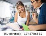 happy young university students ... | Shutterstock . vector #1348706582