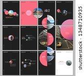 minimal brochure templates with ... | Shutterstock .eps vector #1348710935