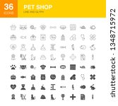pet shop line web glyph. vector ... | Shutterstock .eps vector #1348715972