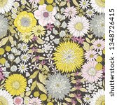 seamless floral pattern with... | Shutterstock .eps vector #1348726415