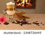 latte macchiato on the... | Shutterstock . vector #1348726445
