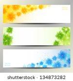 abstract flower vector... | Shutterstock .eps vector #134873282