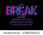 vector of stylized modern font... | Shutterstock .eps vector #1348734122