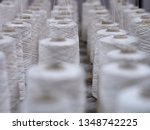 row of textile threads industry ... | Shutterstock . vector #1348742225