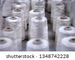 row of textile threads industry ... | Shutterstock . vector #1348742228