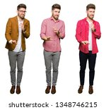 collage of handsome young...   Shutterstock . vector #1348746215