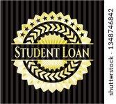 student loan shiny emblem   Shutterstock .eps vector #1348746842