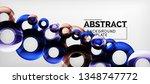 modern geometric circles... | Shutterstock .eps vector #1348747772