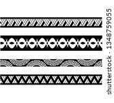 polynesian tattoo sleeve... | Shutterstock .eps vector #1348759055