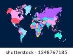 color world map vector   Shutterstock .eps vector #1348767185
