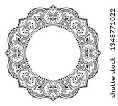 circular frame pattern in form...   Shutterstock .eps vector #1348771022