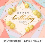 happy birthday celebration... | Shutterstock .eps vector #1348775135