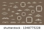 vintage decor elements and... | Shutterstock .eps vector #1348775228