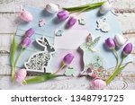Pastel Color Easter Flat Lay...