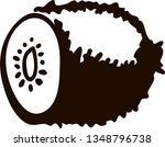 kiwi fruit silhouette isolated... | Shutterstock .eps vector #1348796738