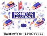 set of isometric design... | Shutterstock .eps vector #1348799732
