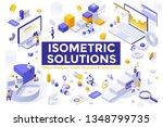 bundle of isometric design...   Shutterstock .eps vector #1348799735