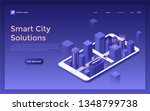 landing page with futuristic... | Shutterstock .eps vector #1348799738