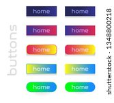 set of colored web buttons.... | Shutterstock .eps vector #1348800218