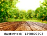desk of free space for your... | Shutterstock . vector #1348803905