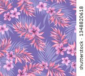 tropical vector pattern with... | Shutterstock .eps vector #1348820618
