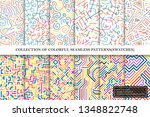 collection of bright colorful... | Shutterstock .eps vector #1348822748