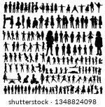 silhouette kids set | Shutterstock .eps vector #1348824098